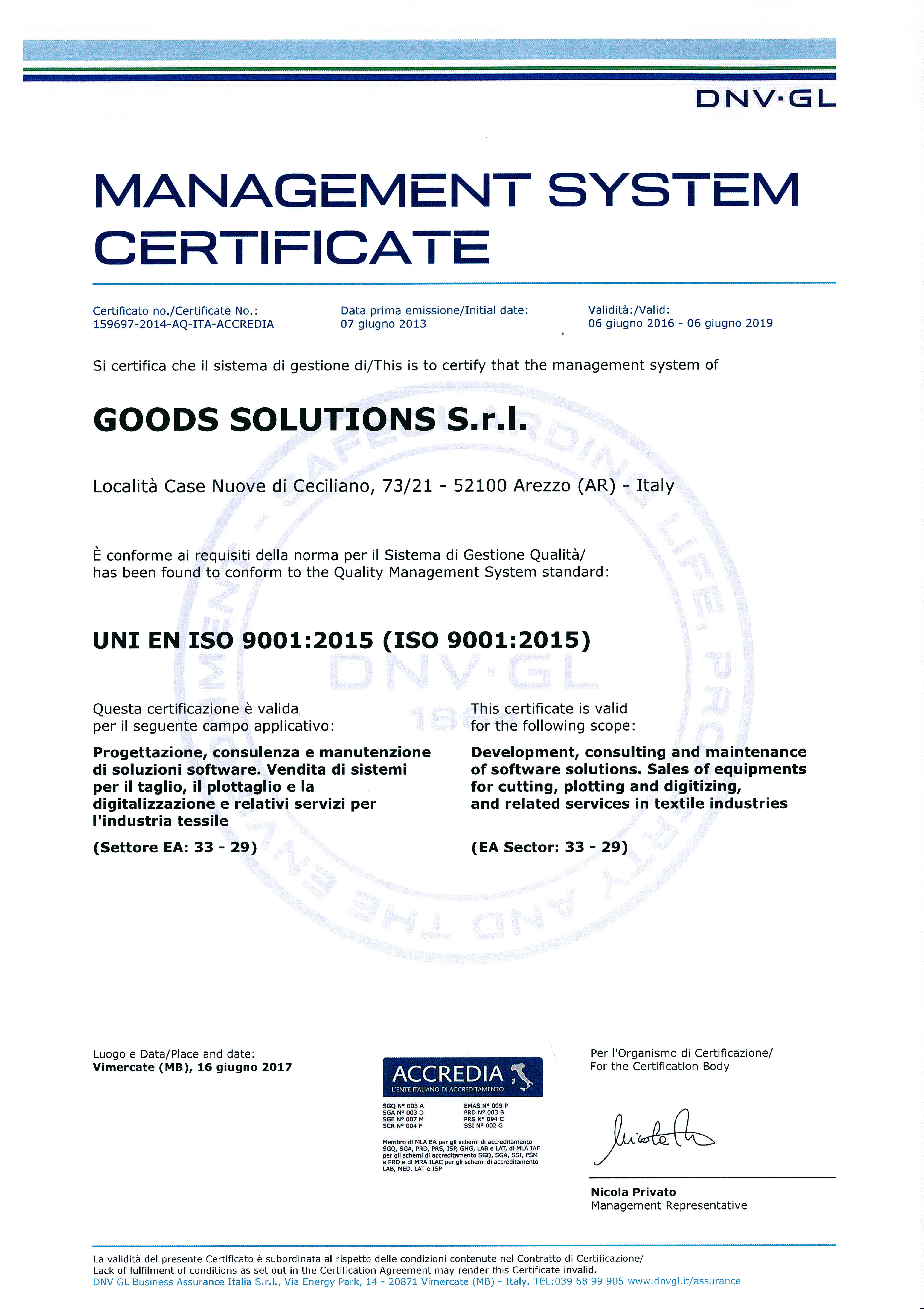 Certificati Iso 9001-2